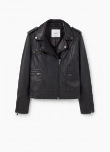 Une veste en cuir noire pour un look de mariée rock'n roll
