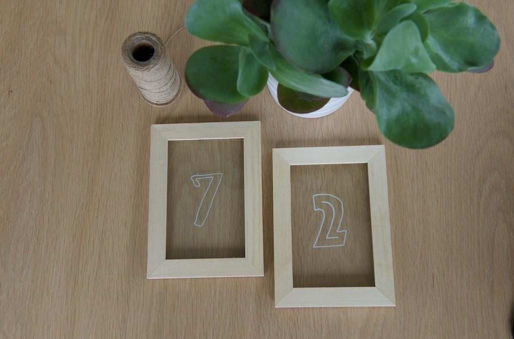 Fabriquer des numéros de table simples et durables