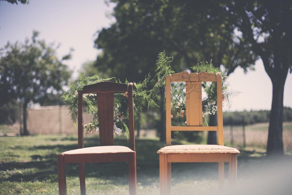 Chaises des mariés vintage