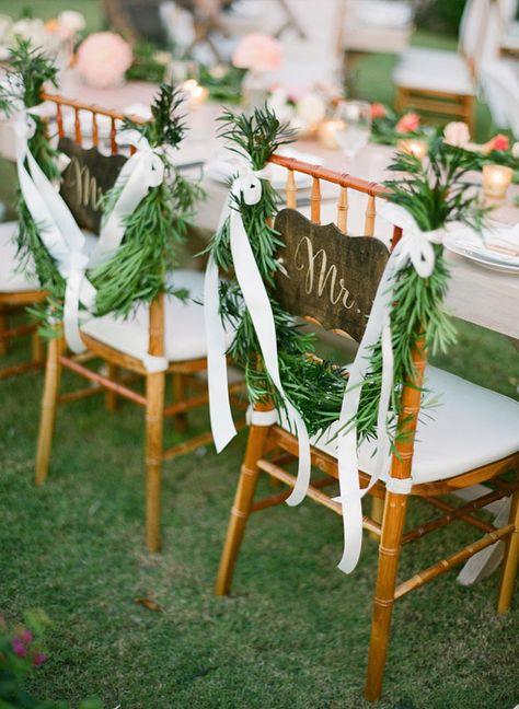 Du sapin pour ces chaises des mariés