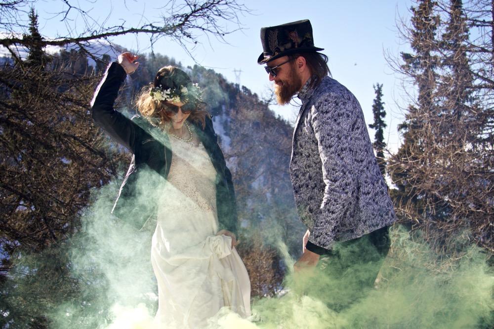 Des idées pour un mariage rock à découvrir sur le site d'inspirations mariage The great Palette - Photographe : Elise Jourdan