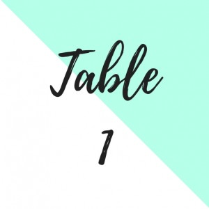 papeterie mariage mint numero de table the great palette