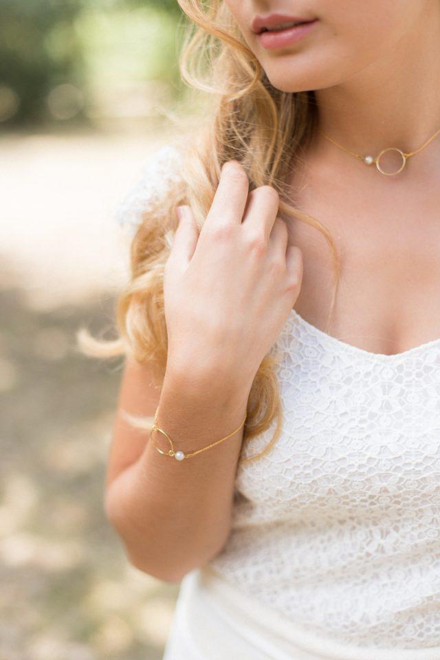 Bijoux de mariée - Parure bracelet et collier - L'Atelier de Sylvie - Photographe : Lena G