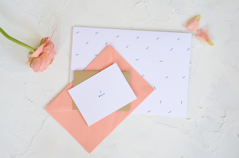 Carte de remerciement mariage - Papeterie Prune et Sibylle