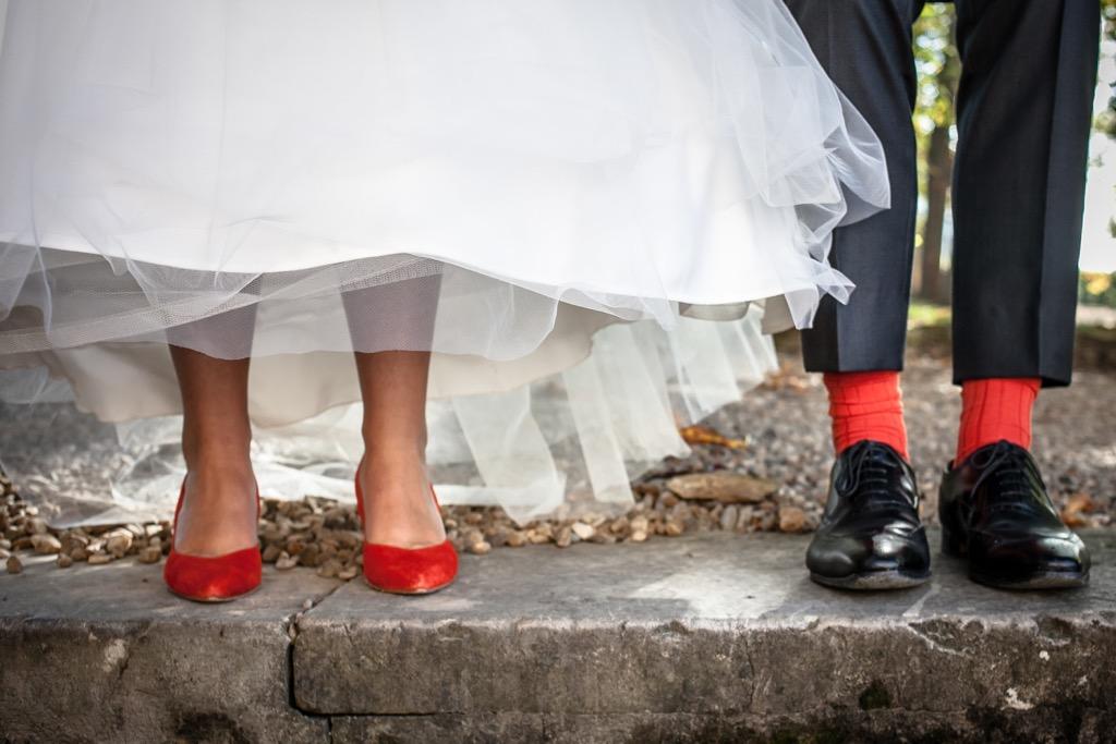 Photos d'un mariage en rouge et orange - Photographe de mariage : Eilean et Jules