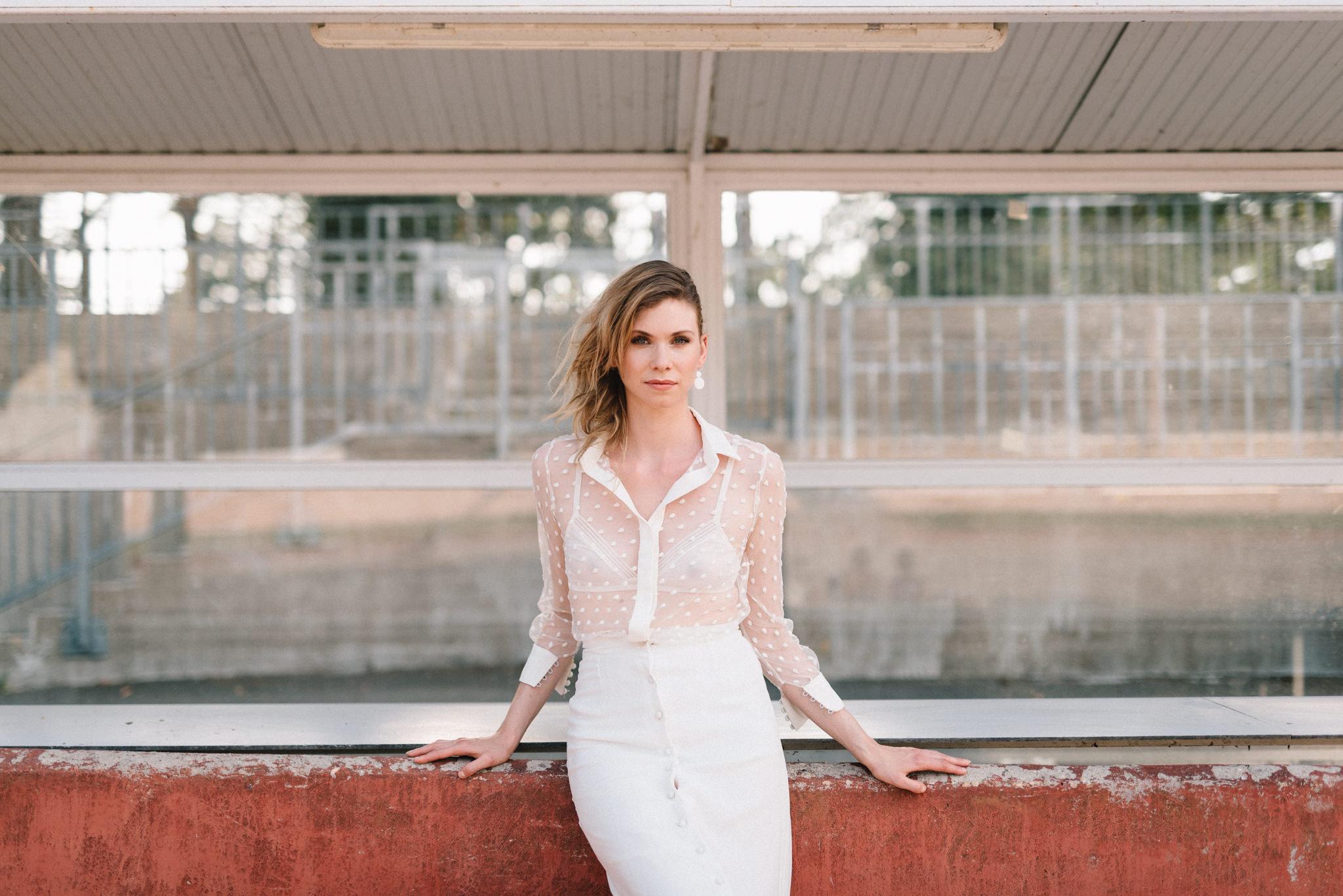 Robe de mariée de la collection 2018 de Clémentine Iacono - Photographe : Chloé Lapeyssonnie