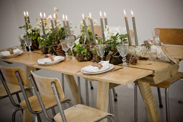 Une décoration de table imaginée pour un mariage éco-responsable - Photographe : Laurianne Conesa