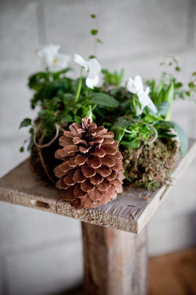 Décoration florale de la cérémonie d'un mariage éco-responsable - Photographe : Laurianne Conesa