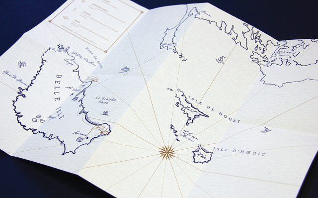 Faire-part pour un mariage en Bretagne - Création Allons-y Alonso