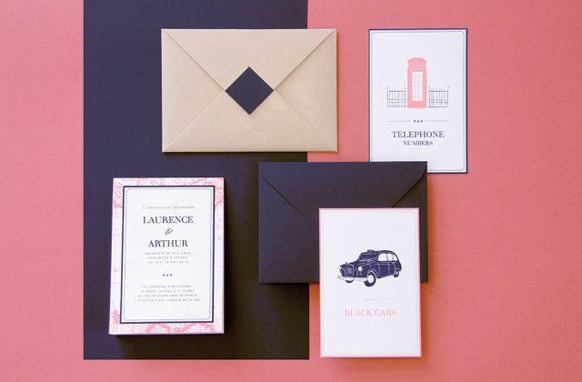 Papeterie de mariage sur le thème de Londres - Création sur-mesure Allons-y Alonso