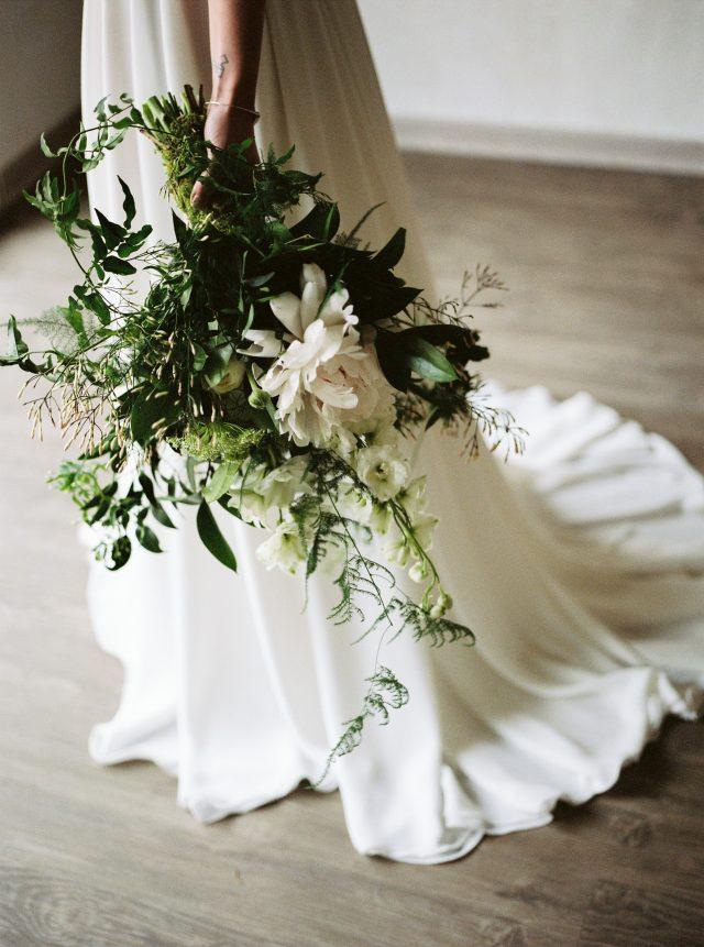Bouquet de mariée d'un shooting d'inspiration végétal - Photographe : Madame A Photographie
