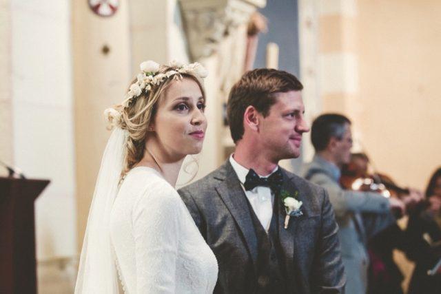 Les mariés d'un mariage d'hiver à l'Alpes d'Huez - Photographe : Adriana Salazar