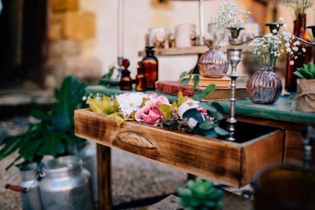 Table de décoration mariage vintage - By Velvet Rendez-Vous