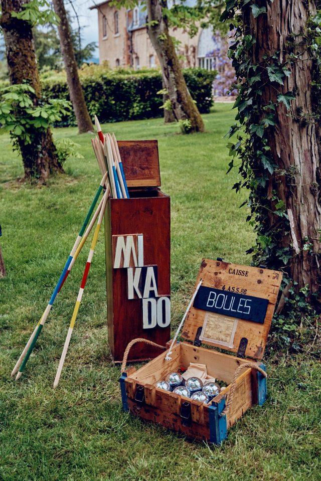 Jeu de mikado et de boules pour garden party - By Velvet Rendez-Vous