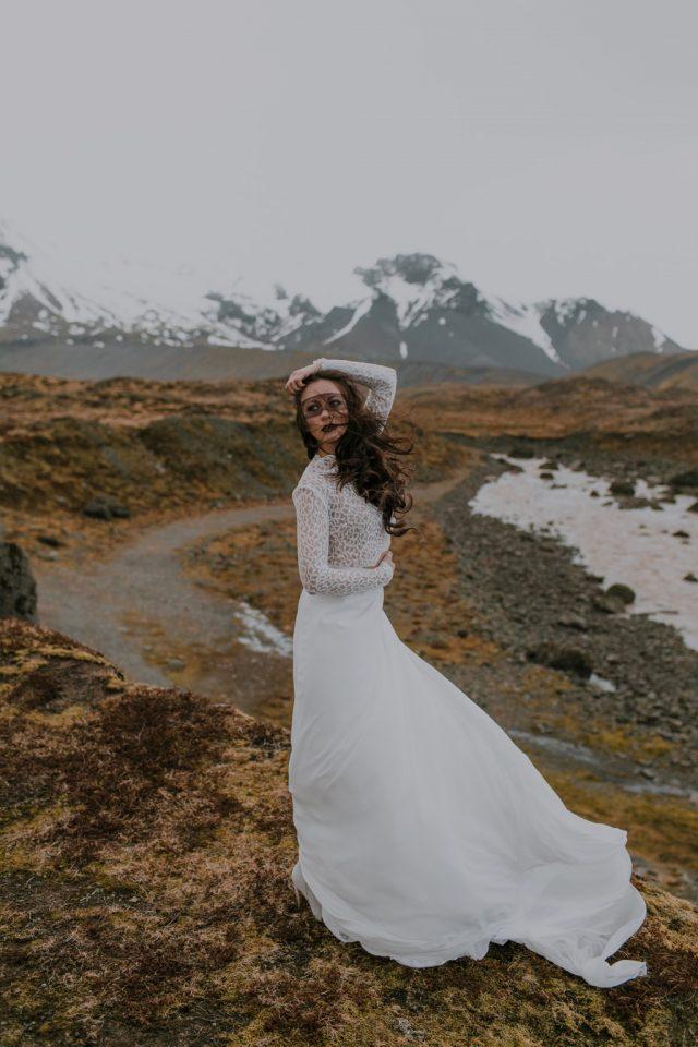 Robe de mariée Melior - Maison Aurélie Mey - Créatrice vers Valence - Photographe : Alison Bounce