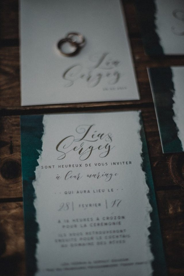 Faire-part de mariage aux inspirations celtiques - Création de La Papette - Photographe : Moonrise Photography