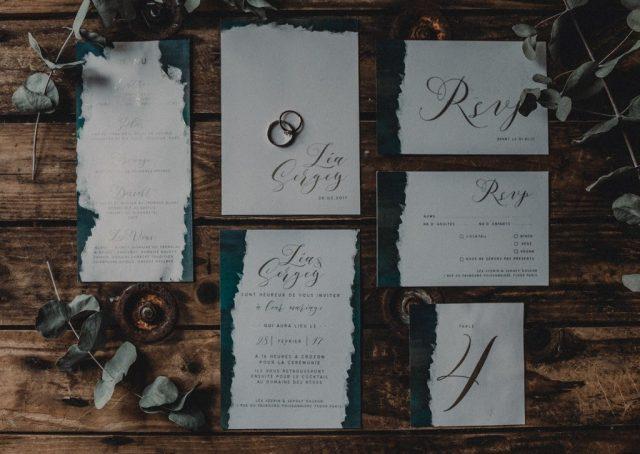 Papeterie de mariage complète aux inspirations celtiques - Création par La Papette - Photographe : Moonrise Photography