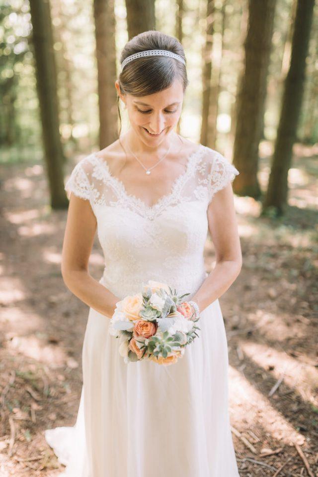 Un mariage doux et élégant - Photographe : Julien Miscischia