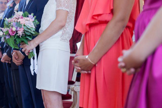 La mariée et ses témoins - Un mariage d'été dans le Val de Marne - Photographe : Marine Blanchard