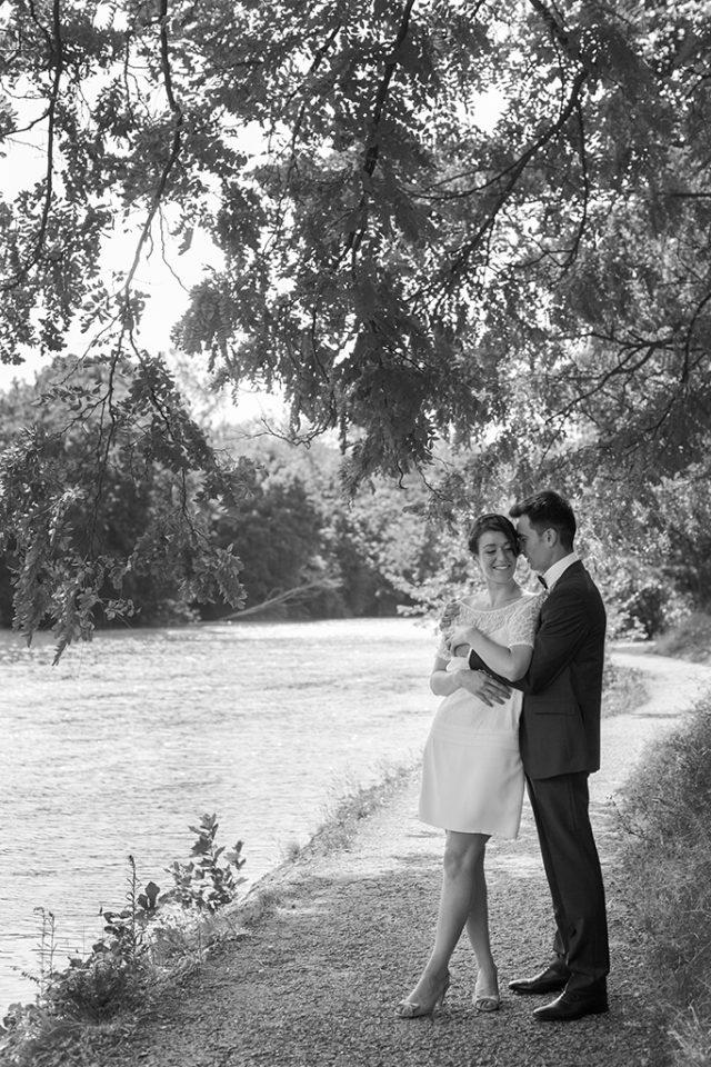 La mariée et le marié - Un mariage d'été dans le Val de Marne - Photographe : Marine Blanchard