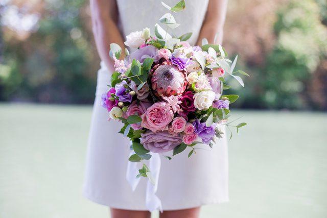 Bouquet de mariée - Un mariage d'été dans le Val de Marne - Photographe : Marine Blanchard