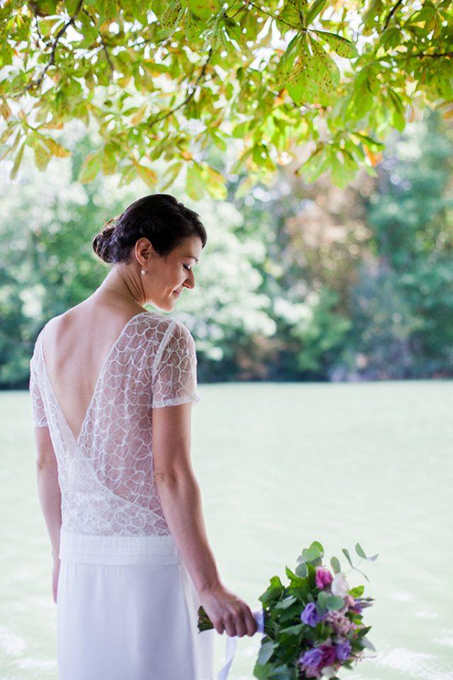La mariée d'un mariage d'été dans le Val de Marne - Photographe : Marine Blanchard