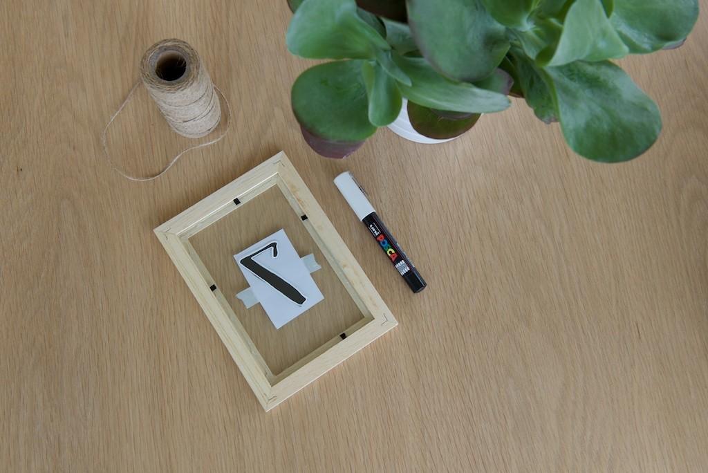 Etapde 3 pour réaliser des numéros de table simples et durables