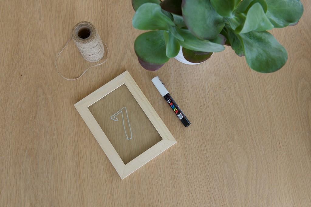 Etape 4 pour réaliser des numéros de table simples et durables