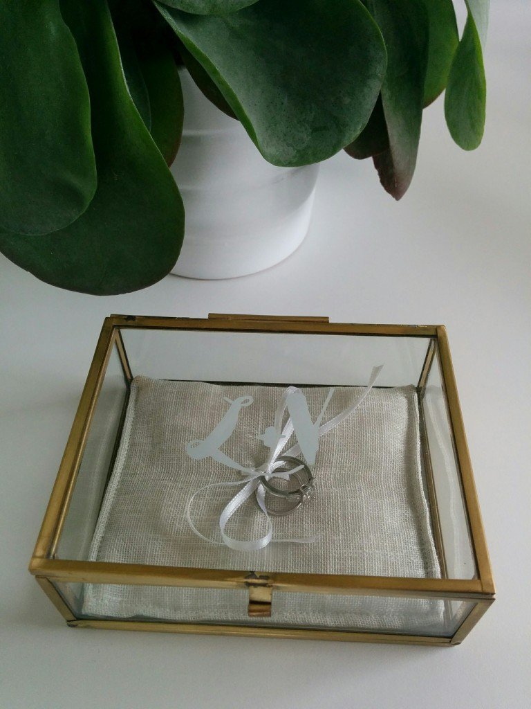 Porte-alliances en verre vintage personnalisé - The great Palette