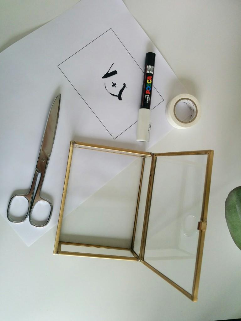Matériel pour personnaliser sa boîte à alliances en verre vintage - The great Palette
