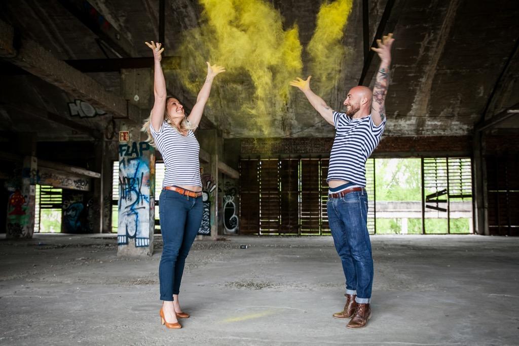 Séance engagement photo de couple - Photographe de mariage : Eilean et Jules